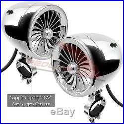 1000W Amplifier Bluetooth Motorcycle Stereo 4 Speakers Audio Radio System Harley