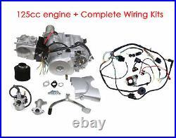 125cc Semi Auto Engine Motor 3 Speed Reverse QUAD ATV BUGGY Go Kart Taotao Sunl