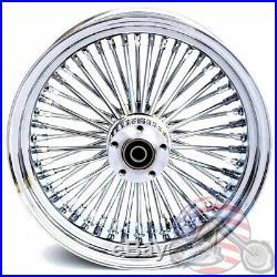 16 3.5 48 Fat Spoke Front Wheel Chrome Rim Dual Disc Harley Softail Touring