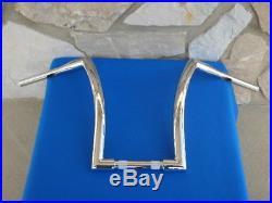 16 Chrome Dna Monster Fat Ape Hanger Bars 1-1/2 Harley Handlebars