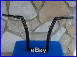 18 Black Dna Monster Fat Ape Hanger Bars 1-1/2 Harley Handlebars