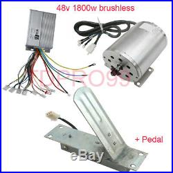 1800W 48V Brushless Electric Motor Speed Controller Pedal ATV Go Kart Charger