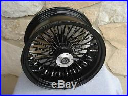 18x5.5 Black Fat Tire Rear Wheel Harley Softail Rigid Chopper 200 Tire Customs