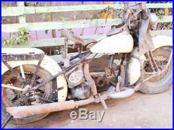 1946 Original Harley Knucklehead Rolling Chassis For Parts Or Restoration Bike
