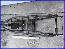 1949-1952 Harley Davidson FL Panhead Wishbone Frame 30° Rake Tool Box Mount