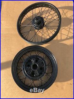 1969-78 Honda Cb750 Cb Cafe Racer Rims Wheels Front 19 Rear 16 Harley Spokes