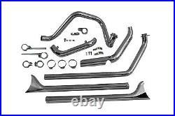 1970-1984 Harley Davidson SHovelhead True Dual Exhaust Pipes System Fishtail 30