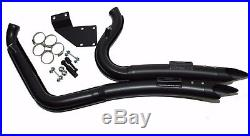 2 1/4 Big Radius Black Exhaust System Drag Pipes 1986-2017 Harley Softail