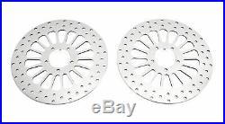 2 Polished 11.5 Super Spoke Front Brake Dual Disk Disc Rotor Pair Rotors Harley