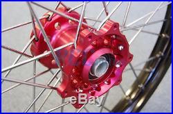 21/19 WHEELS SET for Honda CRF250 CRF450 CRF 250 450 FRONT/REAR M RMH08