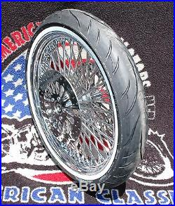 21 3.5 52 Mammoth Fat Spoke Front Wheel Tire Package 08-2019 Harley Touring ABS