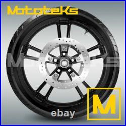 21 Black Enforcer Wheel Rim Tire Rotors For Harley Touring Bagger Models 08 Up