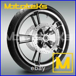 21 ENFORCER WHEEL RIM With TIRE MOUNTED & ROTORS FOR HARLEY TOURING BAGGER MODEL