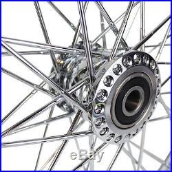 21 Spool Wheel (3/4 Bearings) Chrome Spoke harley davidson chopper sportster