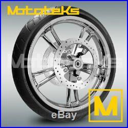 21x3.5 Enforcer Wheel Rim Tire & Rotors For Harley Touring Bagger Models 08 Up