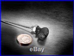 2x Motorrad LED Blinker Bullet Atto Dark Schwarz Getönt Glas Mini E-Geprüft Set