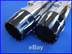 4 Blk Tip Slip-on Mufflers For Harley Electra Ultra Glide Touring 95-16 Exhaust