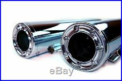 4 Chrome Torx Tip Slip On Muffler Exhaust Pipes Harley Touring Bagger FLH FLT