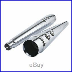 4 Megaphone Exhaust Pipes Mufflers Slip-On For Harley Electra Glide Road King