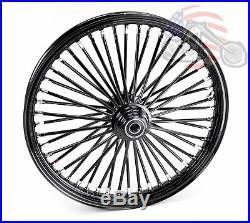 48 King Fat Spoke 21 X 2.15 Front Wheel Black-Out Rim Harley Softail Wide Glide