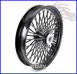 48 King Fat Spoke 21 X 3.5 Front Wheel Black-Out Rim Harley Softail Wide Glide