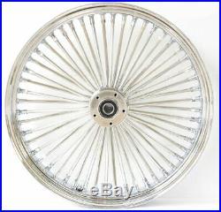 48 King Spoke Fat 23 X 3.5 Front Wheel Rim Touring Softail Chrome Single Disc