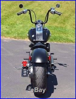 5 Gallon Flatside Fat Bob Fuel Split Gas Tank Set Evo 1984-1999 Harley Softail