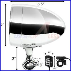 600W Bluetooth Waterproof Stereo Speakers Audio Amp System for Harley Ape Hanger