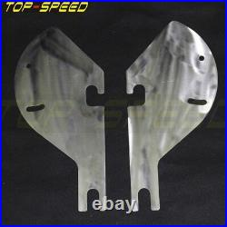 6x9 Detachable Batwing Fairing Speaker Fit Harley Davidson Road King 94-Up White