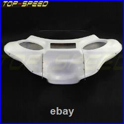 6x9 Detachable Batwing Fairing Speaker Fit Harley Davidson Road King 94-Up White