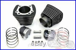 883 to 1200 Black Cylinder 9.51 Piston Big Bore Conversion Kit Harley Sportster