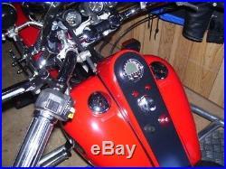 Acewell 2853 Digital Speedometer Chrome fascia. Ideal for Cruisers, Customs