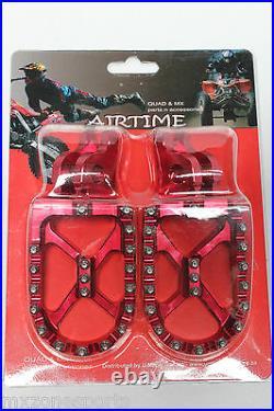 Airtime Cnc Foot Pegs Honda Cr125 Cr250 Crf150r Crf250r Crf450r Crf250x 450x Red