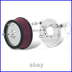 Arlen Ness Stage 1 Big Sucker Air Cleaner Harley 99-15 Twin Cam Natural Plate