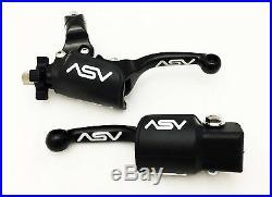 Asv Unbreakable F3 Shorty Black Clutch Brake Levers Dust Covers Kx 250 125 85 65