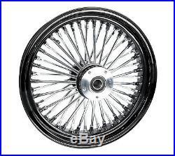 Black 16 x 3.5 46 Fat King Spoke Rear Wheel Rim Harley Touring Dyna Softail XL