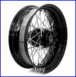 Black 40 Spoke 16 x 5 Rear Wheel Rim Harley 08-2018 Sportster Wide Tire Kit