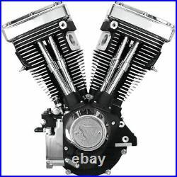 Black & Chrome S&S 80 1340cc Evolution Evo V80 Long Block Motor Engine 310-0233
