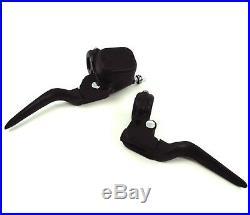 Black Custom Handlebar Controls Kit Brake Cable Clutch Harley Bobber Chopper