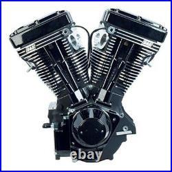 Black Edition S&S 111 V111 Evolution Evo Long Block Motor Engine Harley Chopper