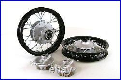 Black Front & Rear Alum wheels rims 10 10 inch CRF50 XR50 Pit Bike Stock Drum