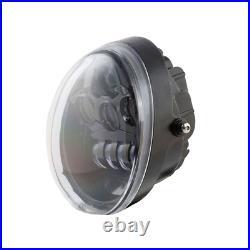 Black Hi/Lo LED Projection Headlight Harley V Rod V-Rod VROD VRSC VRSCA VRSCDX