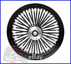 Black Out 16 X 3.5 48 Fat King Spoke Rear Wheel Rim Harley Touring Softail
