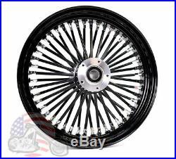 Black Out 18 X 3.5 48 Fat King Spoke Front Wheel Rim Harley Softail Custom