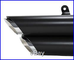 Black Staggered Shortshots Short Shots Exhaust Drag Pipes Harley Dyna FXD 91-05