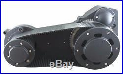 Black Ultima 3.35 Inch Street Open Belt Drive Primary 1990-2006 Harley Softail