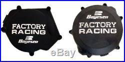 Boyesen Clutch & Ignition Black Cover For Yamaha YZ 250 2 Stroke SC-32AB CC-32AB