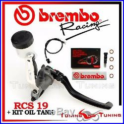 Brembo Rcs Front Brake Master Cylinder Rcs 19 + Kit Oil Tank 110a26310+110a26385