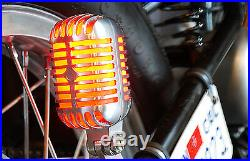 Chopper Bobber Vintage Microphone Taillight Harley Triumph XS650 BSA Norton