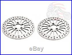 Chrome 11.5 Super Spoke SS Front Rear Disc Disk Brake Rotors Rotor Set Harley
